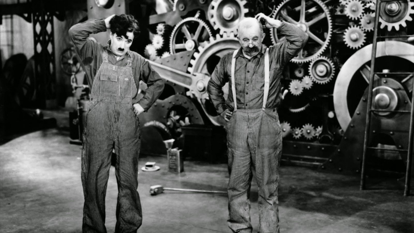 charlie chaplins modern times Review by mark bourne trivia question: what movie closed out the 2003 cannes film festival answer: modern times, charlie chaplin's comic social satire from 1936.